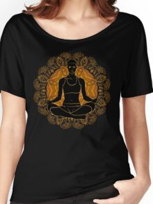 beautiful woman doing yoga meditation Women's Relaxed Fit T-Shirt