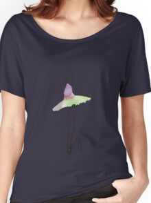 ballerina figure, watercolor illustration Women's Relaxed Fit T-Shirt