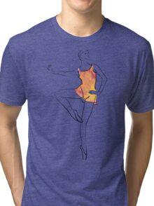 ballerina figure, watercolor illustration Tri-blend T-Shirt