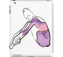 ballerina figure, watercolor illustration iPad Case/Skin