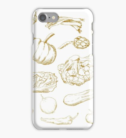 set of hand-painted vegetables iPhone Case/Skin