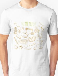 set of hand-painted vegetables Unisex T-Shirt