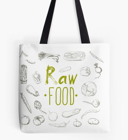 hand-painted vegetables Tote Bag