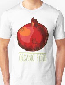 hand drawn vintage illustration of pomergranate Unisex T-Shirt
