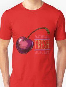 hand drawn vintage illustration of cherry Unisex T-Shirt