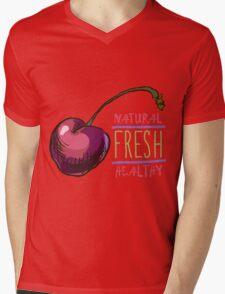 hand drawn vintage illustration of cherry Mens V-Neck T-Shirt