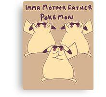 Gentleman Pikachu Parody Canvas Print