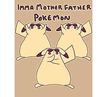 Gentleman Pikachu Parody Photographic Print