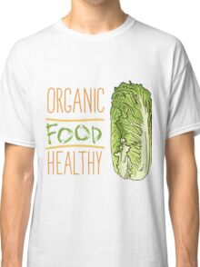 hand drawn vintage illustration of cabbage Classic T-Shirt