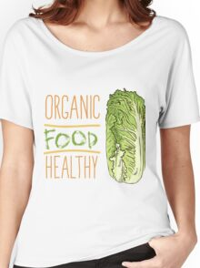 hand drawn vintage illustration of cabbage Women's Relaxed Fit T-Shirt