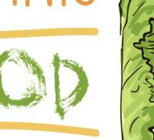 hand drawn vintage illustration of cabbage Sticker