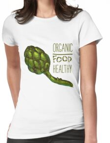 green fresh useful eco-friendly artichoke Womens Fitted T-Shirt