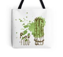 hand drawn vintage illustration of asparagus Tote Bag