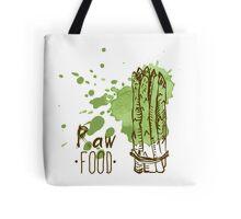 hand drawn vintage illustration of asparagus Tote Bag