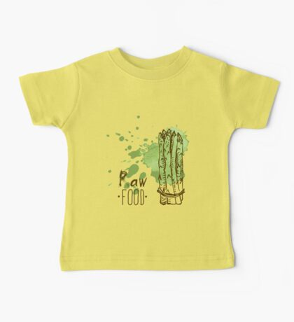 hand drawn vintage illustration of asparagus Baby Tee
