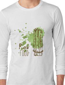 hand drawn vintage illustration of asparagus Long Sleeve T-Shirt
