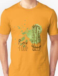 hand drawn vintage illustration of asparagus Unisex T-Shirt