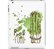 hand drawn vintage illustration of asparagus iPad Case/Skin