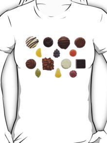 Sweets Mixed Chocolate and Fruit Pastilles T-Shirt