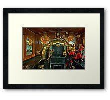 Inside The Cab  #1 (Steam Train) Framed Print