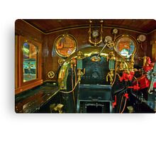 Inside The Cab  #1 (Steam Train) Canvas Print