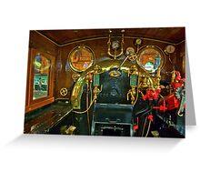 Inside The Cab  #1 (Steam Train) Greeting Card