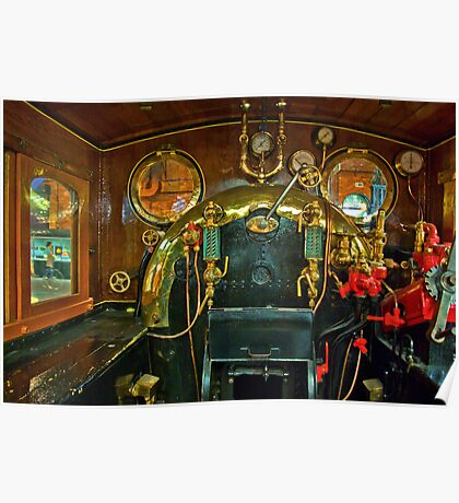 Inside The Cab  #1 (Steam Train) Poster