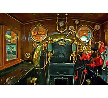 Inside The Cab  #1 (Steam Train) Photographic Print