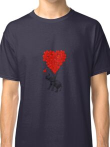 Elephant and red heart balloons Classic T-Shirt