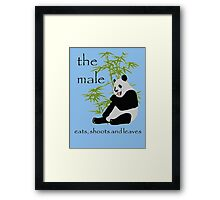 The Male Eats, Shoots and Leaves Framed Print