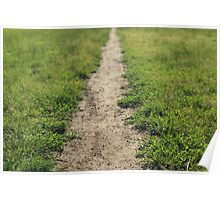 Meadow Path, blurred background Poster