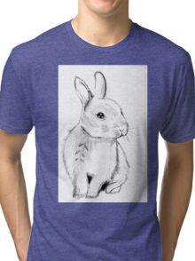 Bluebell the Fluffy White Bunny Tri-blend T-Shirt