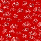 Retro Collection of Bicycles on red by Tee Brain Creative