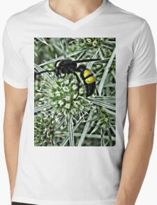 Wasp on a Thistle Mens V-Neck T-Shirt