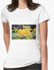 Yellow Wild Azalea  Womens Fitted T-Shirt