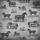 Classic Horse Pattern by Tee Brain Creative