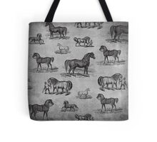 Classic Horse Pattern Tote Bag