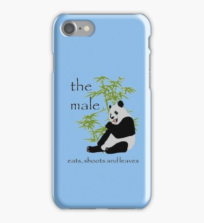 The Male Eats, Shoots and Leaves iPhone Case/Skin
