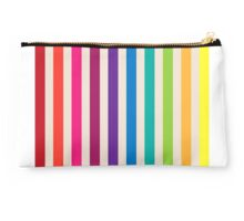 Multi-Colored Rainbow Candy stripes pattern Studio Pouch