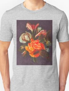 Yellow and Pink Roses Unisex T-Shirt