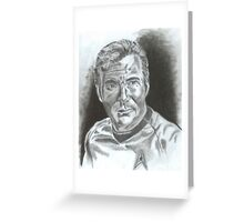 William Shatner as Captain James Kirk Greeting Card