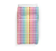 Multi-Colored Rainbow Candy gingham pattern Duvet Cover