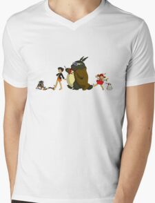 Doctor Totoro Mens V-Neck T-Shirt
