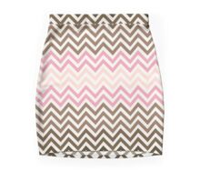 Neapolitan Ice-Cream Chevron pattern Mini Skirt