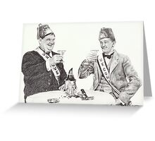'A toast to good times' Greeting Card