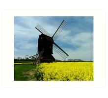 Stevington Windmill Art Print