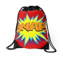 Funny Superhero comic word SNAP! Drawstring Bag