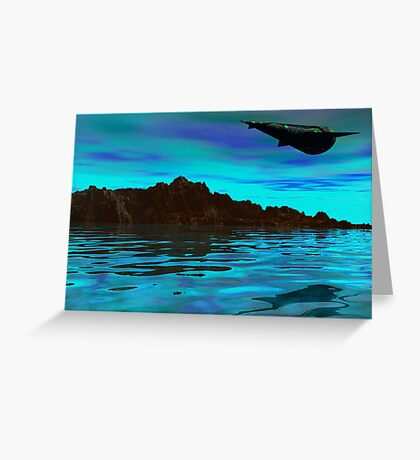 In an alien world...... Greeting Card