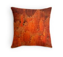 Glowing Red, Bryce Canyon National Park Throw Pillow