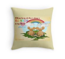 Rainbow in My Heart Throw Pillow